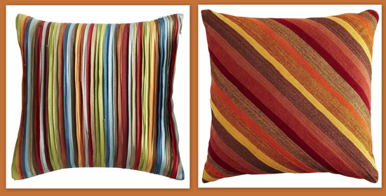 Pier 1 striped pillows