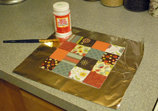 mod podge prep layer