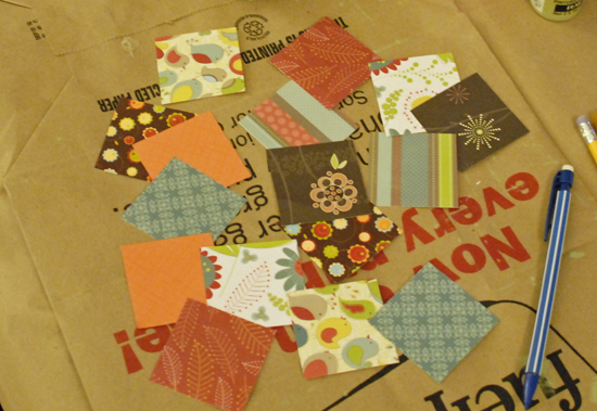 patchwork paper squares