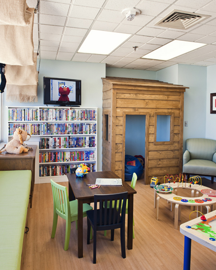 playroom playhouse wall
