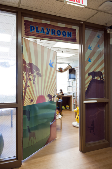 Chippenham pediatric playroom door