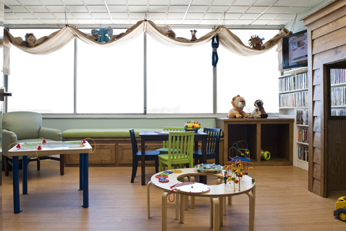 Chippenham pediatric playroom - Cathy Green Interiors