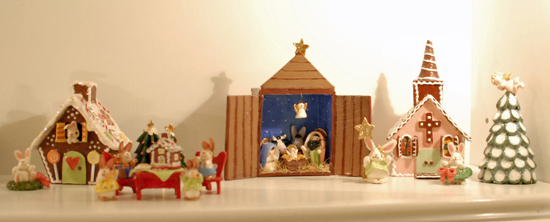 Christmas clay figurines