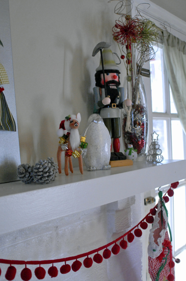 Christmas mantel detail