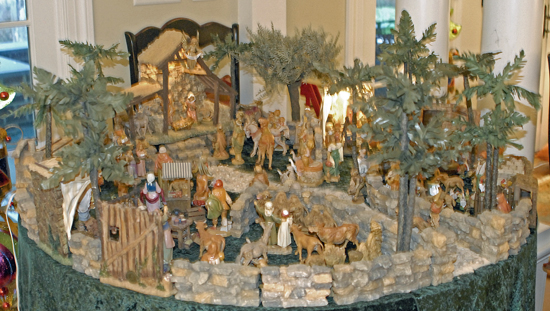 Christmas nativity village