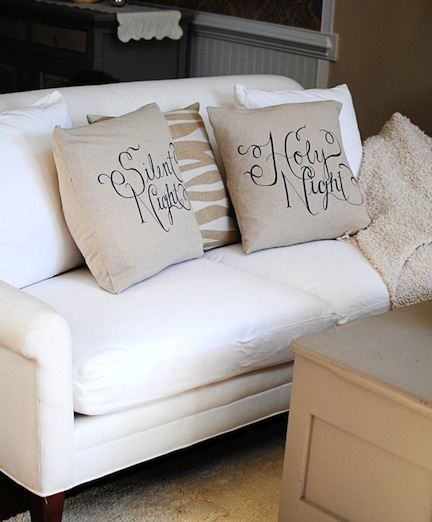 neutral holiday pillows