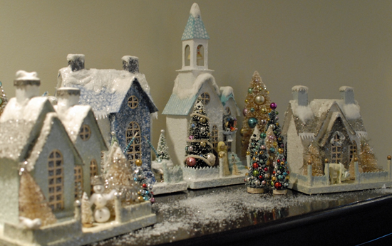 snowy Christmas village