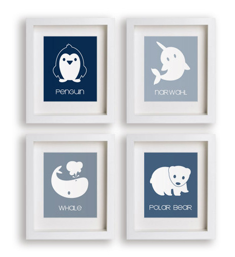 artic animals prints