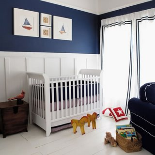 navy and white nautical nursery