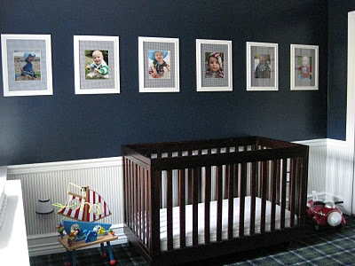 navy and white nursery