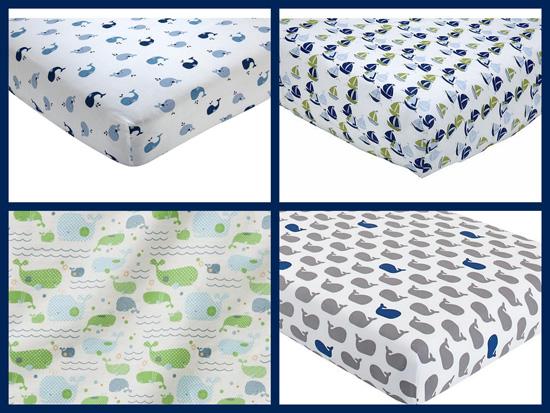 whale nursery sheets