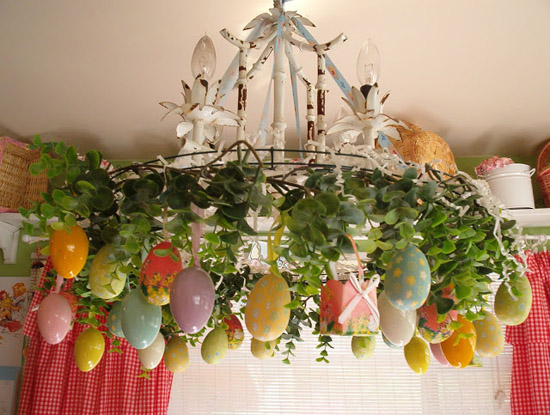spring Easter egg chandelier