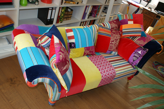 patchwork chaise lounge