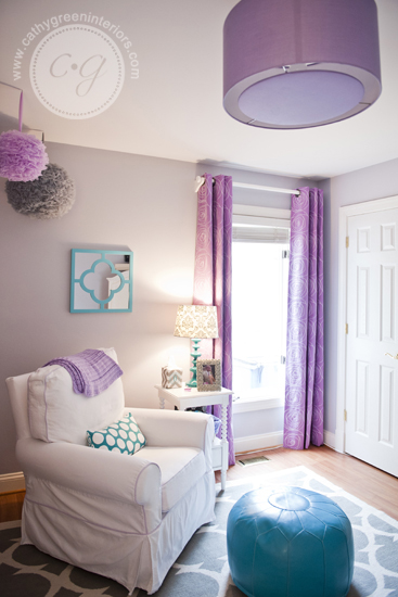 purple & gray nursery