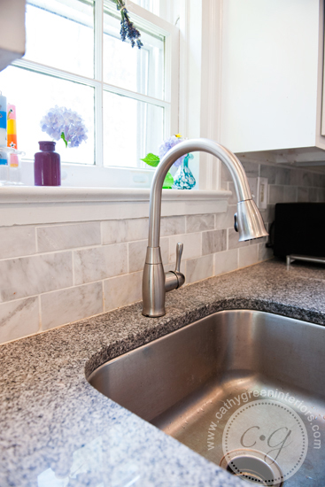 marble backsplash & luna pearl granite