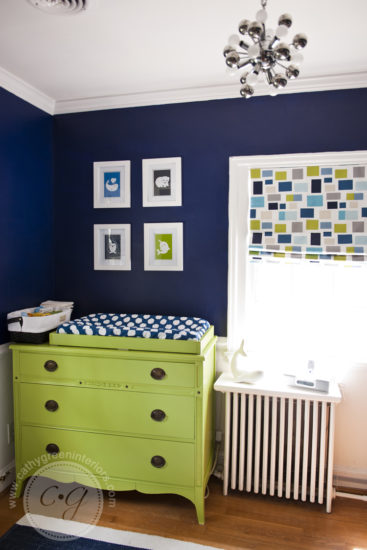 navy & green nursery