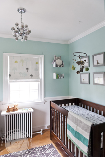 mint green woodland nursery