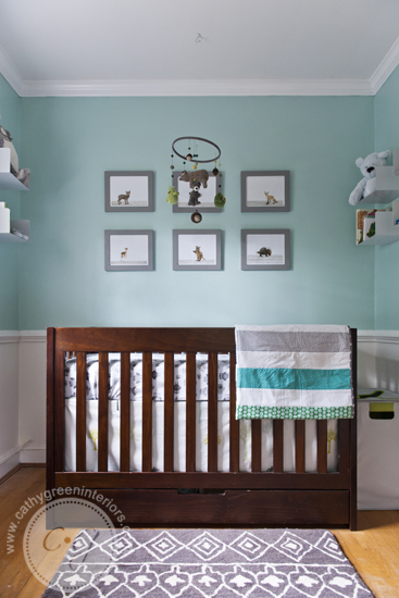 woodland nursery crib