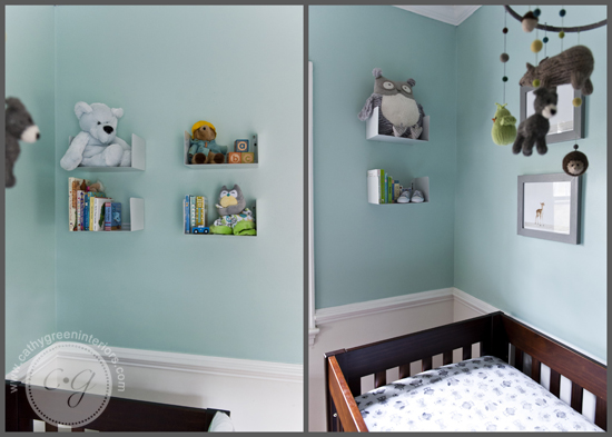 woodland nursery shelves