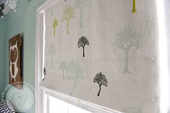woodland nursery window treatments
