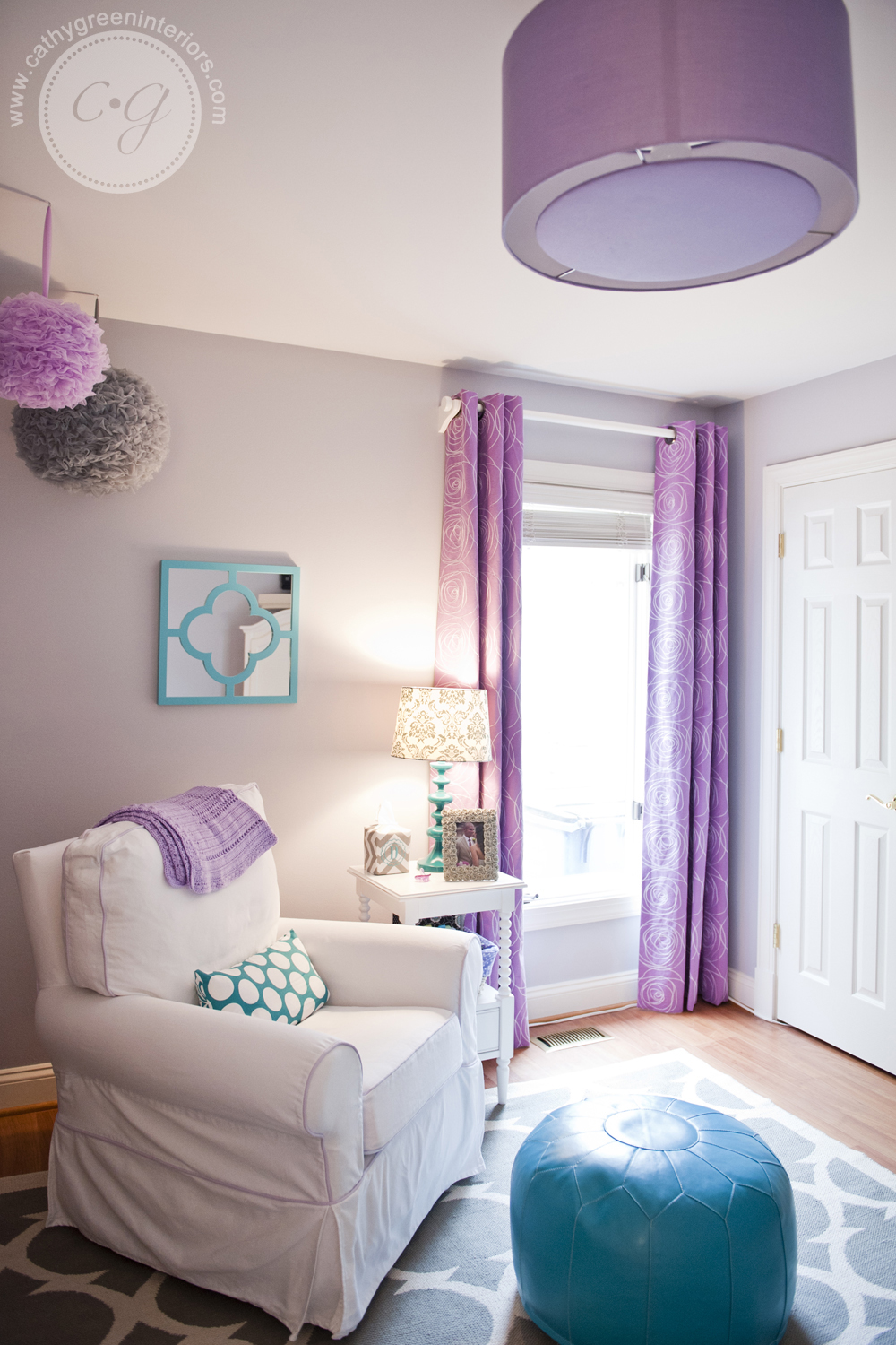 purple & gray nursery chair & window.jpg