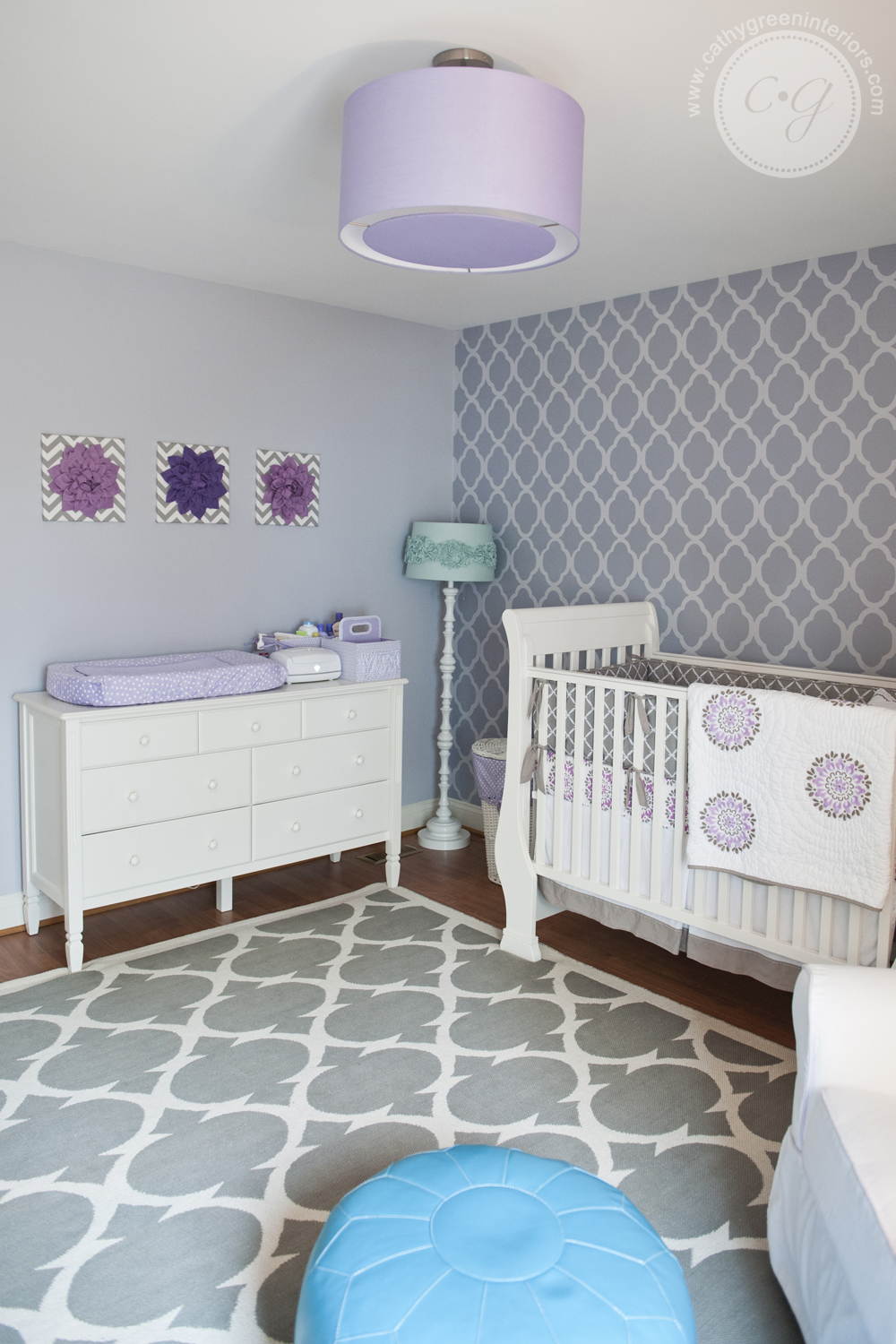 Nursery white crib and dresser, Chesterfield, VA