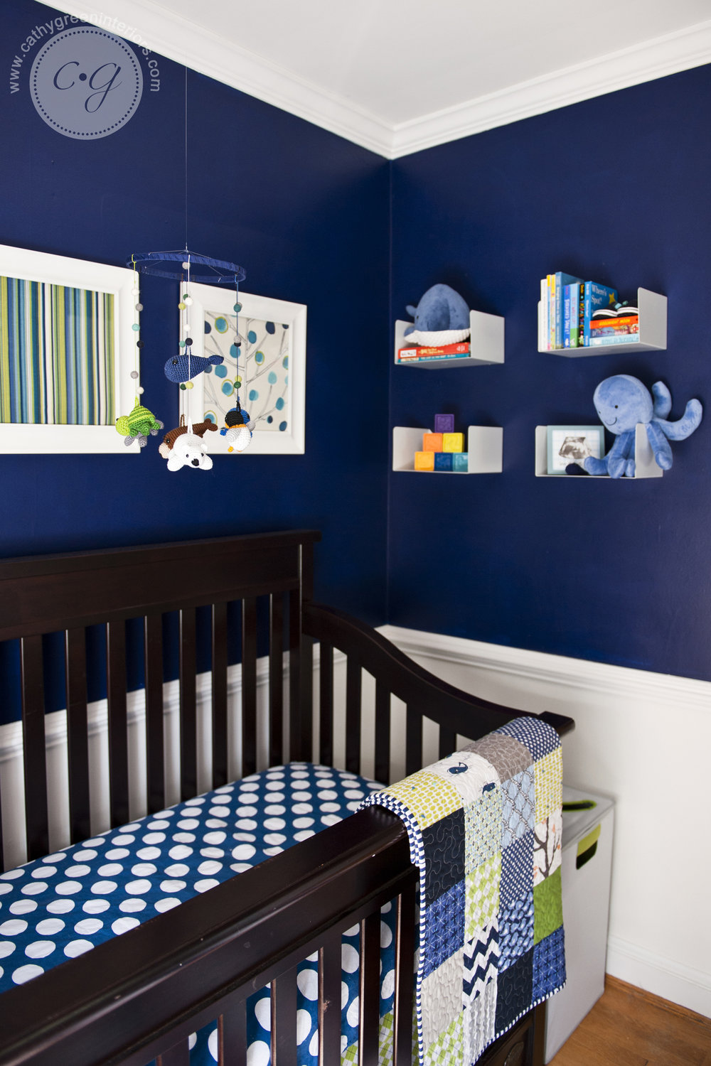 Navy and green nursery - Richmond, VA