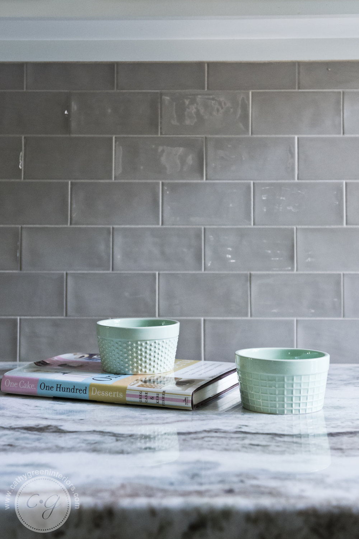 Taupe backsplash, fantasy brown marble,Transitional kitchen, Chesterfield, VA