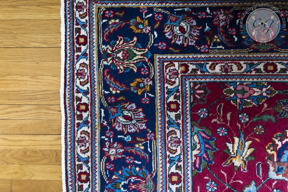 Navy and Red oriental rug