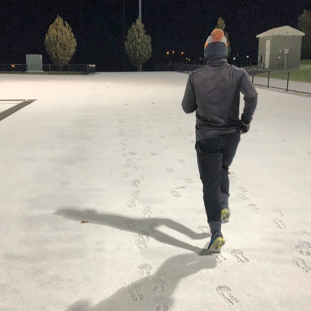 Winter running doesn't require many layers