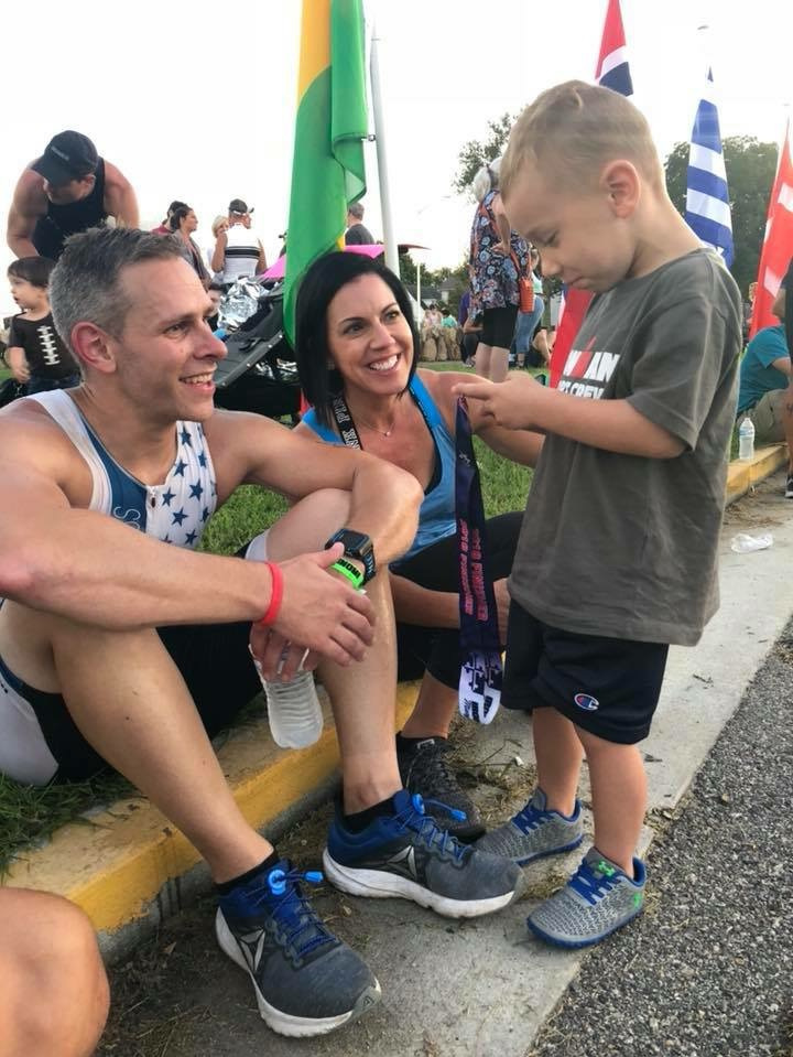 Stu Klaas - Ironman Maryland 201829th AG 30-34 (11:44)Finished sub-12 hours on less than 7 hours training per weekSTRIVE Olympic Distance 20183rd AG 30-34 and 16th Overall (2:26)