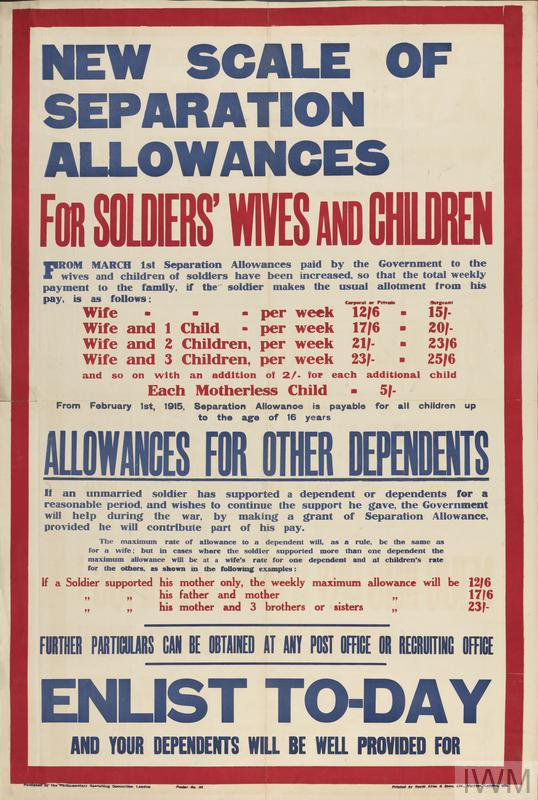New Scale of Separation Allowances © IWM (Art.IWM PST 5116)