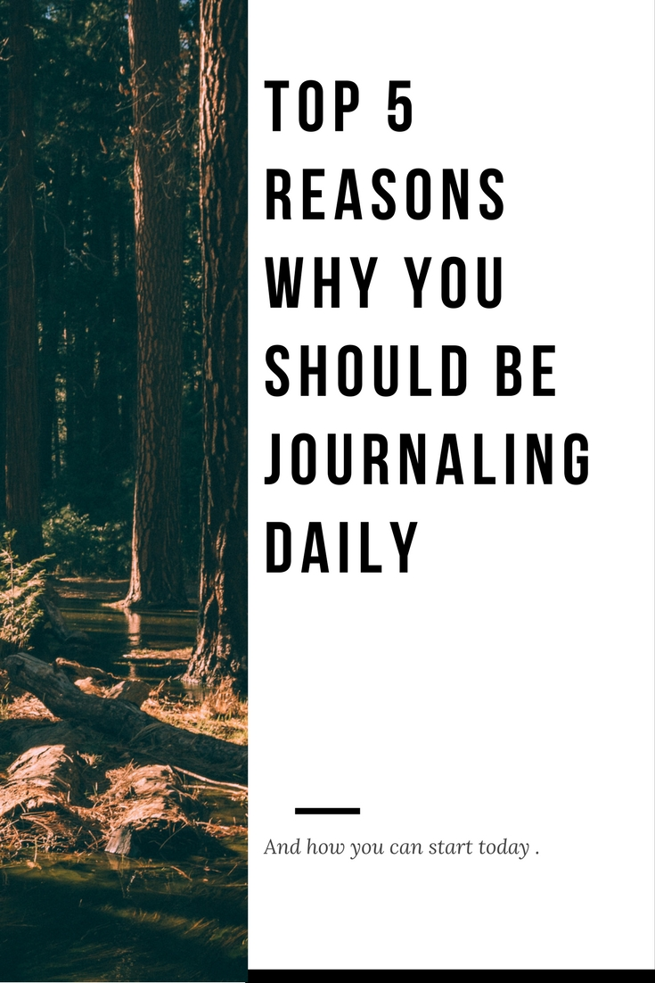 top 5 reasons to journal daily