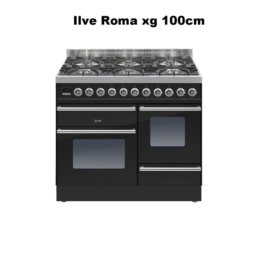 Roma 100cm XG 6 Burner Gloss Black PTW1006E3_NX_preview.jpeg