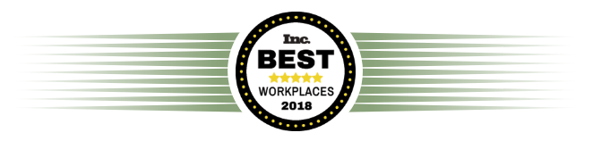 Named Best Workplace by Inc.com