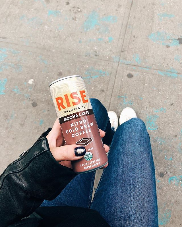 quite literally stumbled upon the new @risebrewingco nyc location on my search for some coffee this am ☕️ allergy peeps all of their coffee is #nutfree but their new oat milk lattes are a must try for sure ! #nfmeats