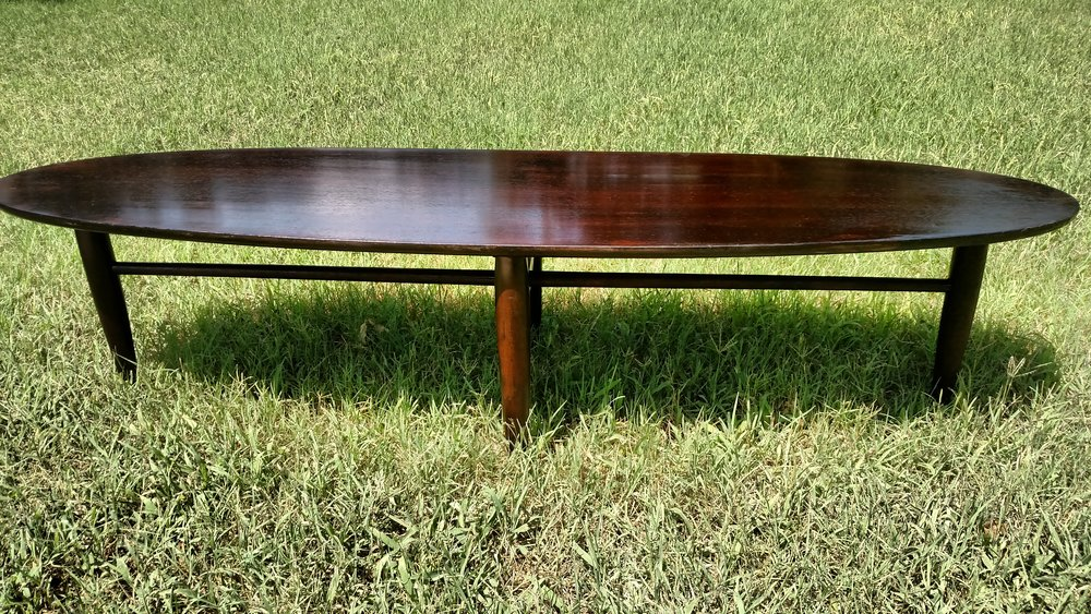 Refinished Mid-Century Surfboard Table