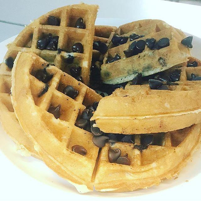 DOUBLE Chocalate Chip Waffle 🍫🍫