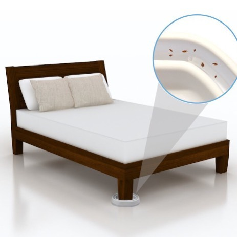 Bed Bug furniture traps are an extremely effective way to lure out and trap bugs that may hiding in baseboards and walls!