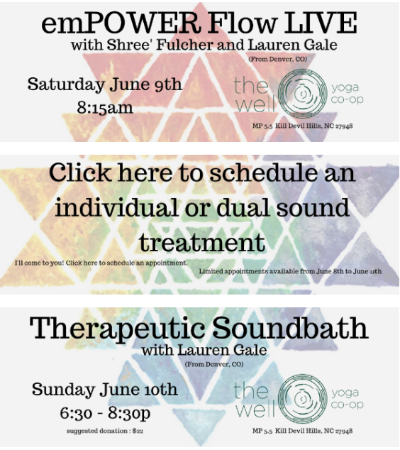Therapeutic Soundbath at The Well Yoga OBX