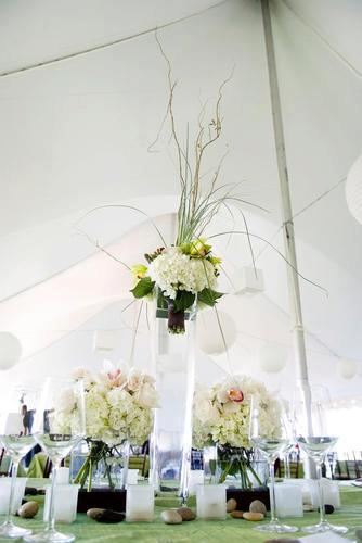 Malloy Events | New England wedding planner | Nantucket Golf Club | wedding centerpiece details