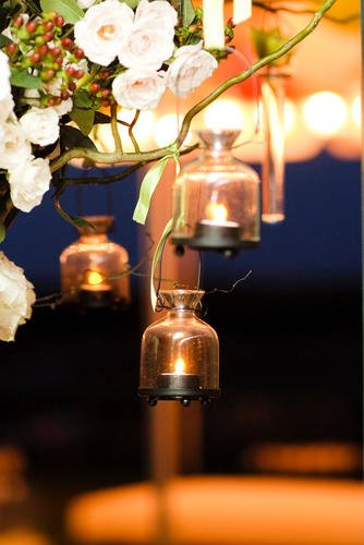 Malloy Weddings | New England wedding planner | Nantucket Golf Club wedding | Statement entrance piece lanterns