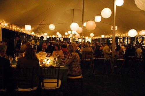 Malloy Weddings | New England wedding planner | Nantucket Golf Club wedding | paper lantern tented reception