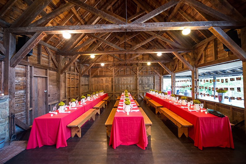 Malloy Weddings | New England wedding planner | classic New England welcome dinner BBQ, Rockywold Deephaven Camp, Holderness NH