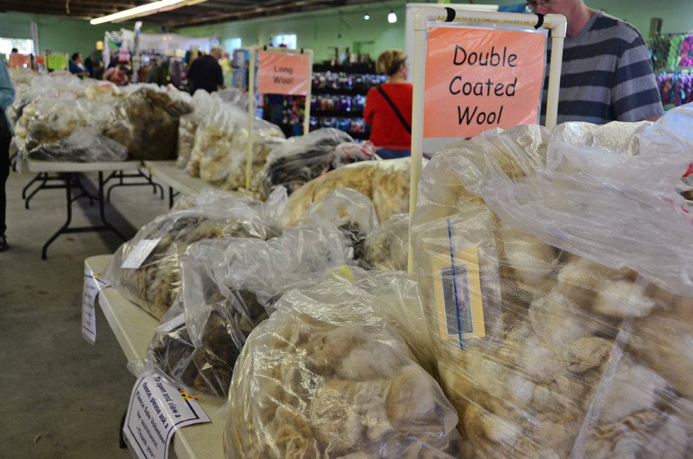 Fleece sales at a fiber festival