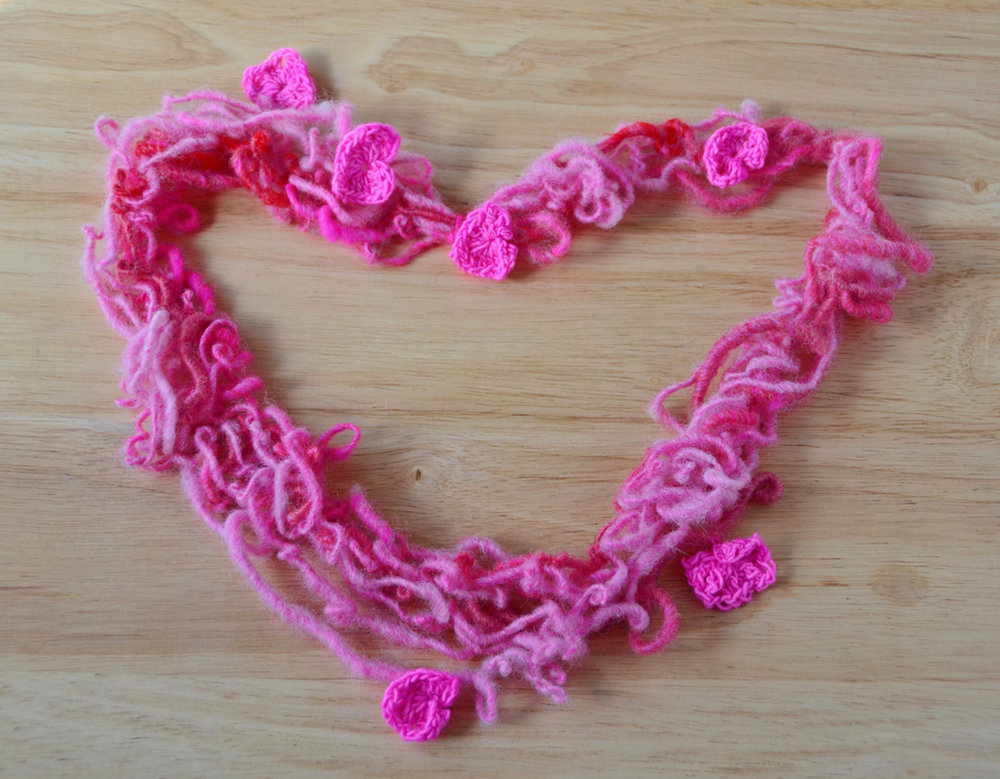 Finished Crocheted Heart Yarn