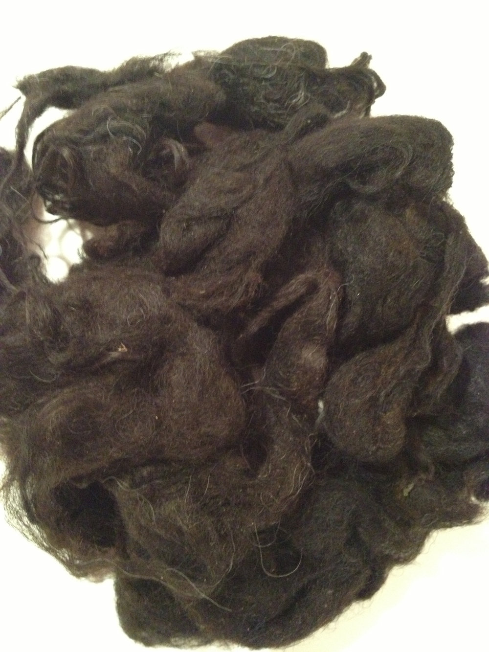 Washed Hebridean Fleece © 222 Handspun