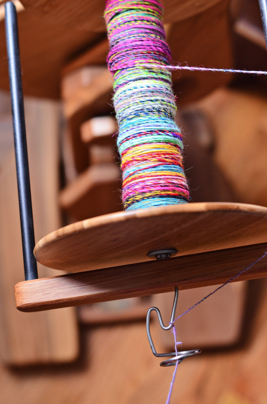 Majacraft Aura Spinning Wheel with the Overdrive Head