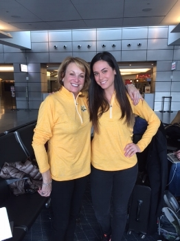 As the Director of Student Success, I get the opportunity to support our sales team pretty frequently. I share our Student Success mission, opportunities and stories.... as well as wear matching outfits with our CEO Lisa when we are ready to relax and show school spirit on our way home :) #wewon