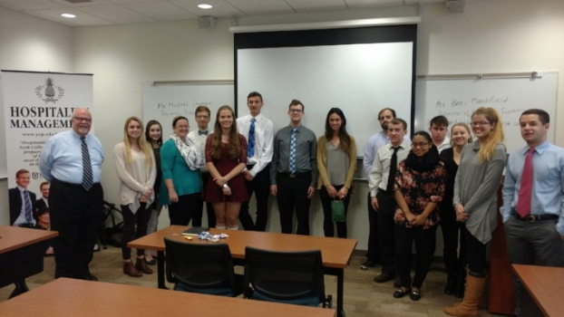 This was my first time to York College, and I was thrilled to meet this group of hospitality students with Michael, one of my colleagues. This group had so many great questions and I know there are a bunch of future Student Success interns in this group! #goodluck